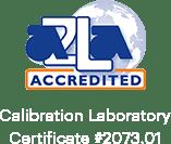 AZLA 공인 교정 실험실 인증서 # 2073.01